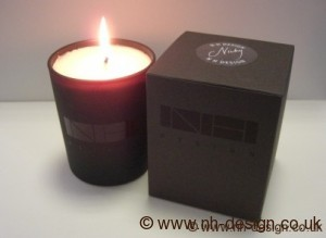 """Nicky"" Scented candle by NH Design"
