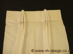 Reverse Brisby curtain pleat