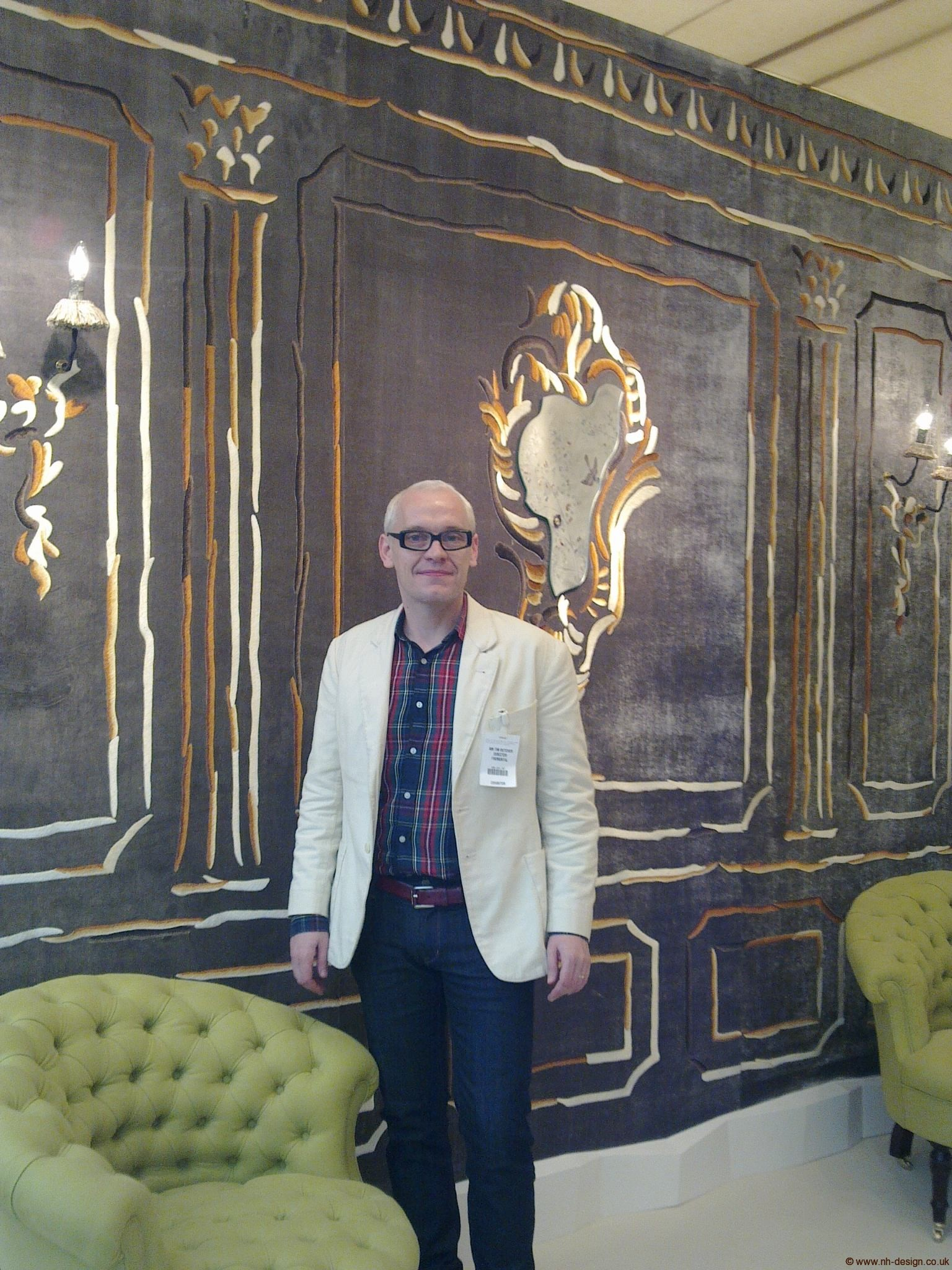 Tim Butcher in Fromental Booth at Decorex 2010