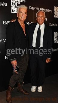 Nicky Haslam with Giorgio Armani, photographer: Dave M Bennett, Getty Images
