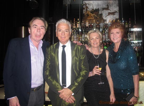 Andrew Lloyd-Webber & Nicky Haslam at the Beaufort Bar at the Savoy