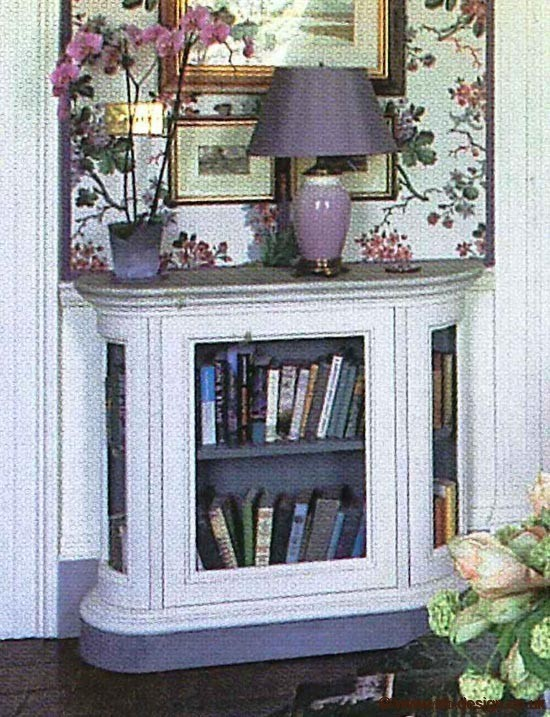 NH Design low level painted book case