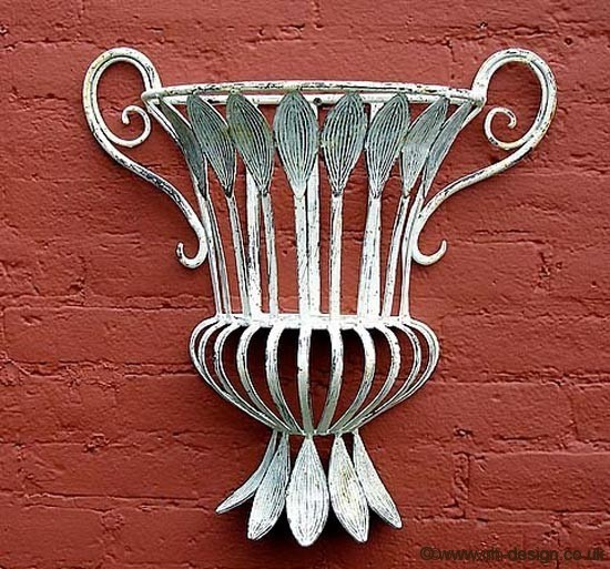The Belle White Iron Wall Sconce