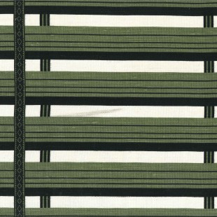 Shutter Stripe in Green Olive